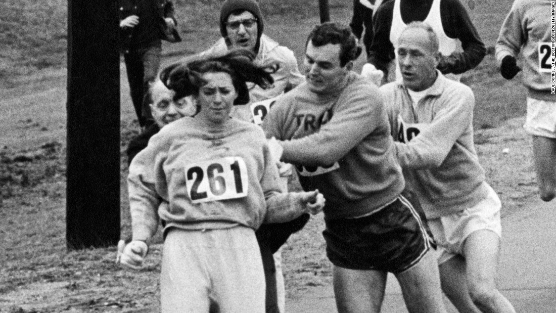 1st woman to officially run Boston Marathon does it again, 50 years later