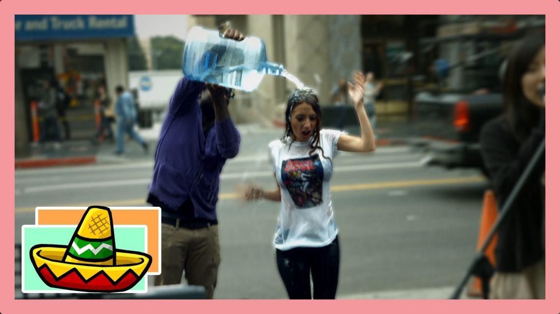 Glub Glub Water Dance on Hollywood Blvd! #new trend | Lauren Francesca