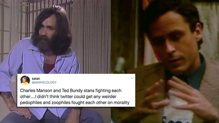Ted Bundy and Charles Manson stans are in a bizarre Twitter feud