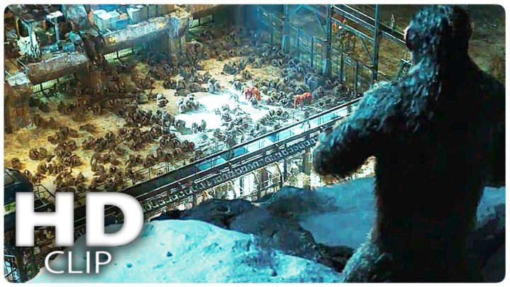 """WAR FOR THE PLANET OF THE APES """"Ape Prison"""" Clip + Trailer (2017)"""