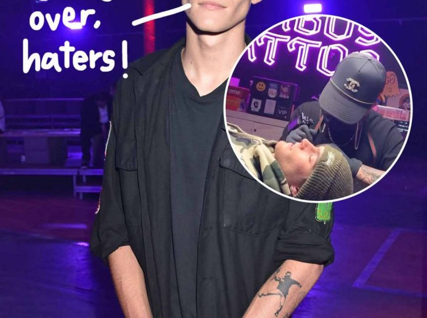 Presley Gerber Claps Back At Critics Of His New Face Tattoo: 'Come Say It To My Face' – Perez Hilton