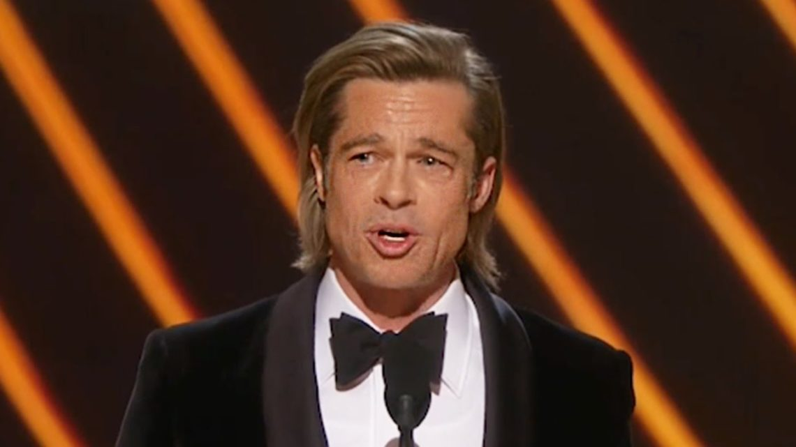 Brad Pitt Gives Emotional Speech After Oscar Win For Best Supporting Actor