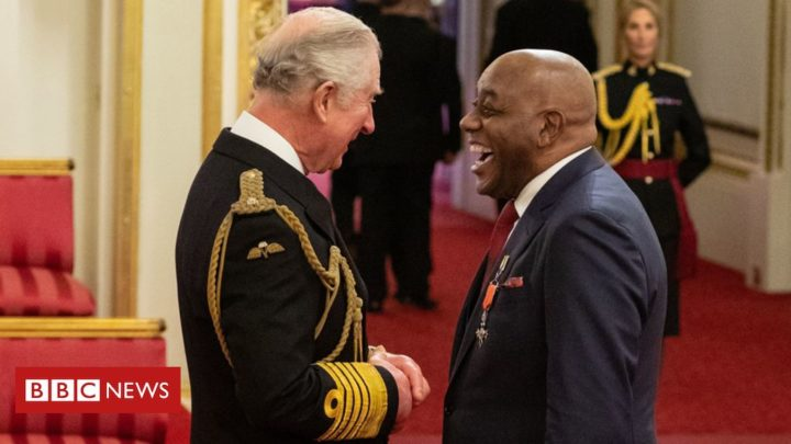 Ainsley Harriott receives 'very special' MBE